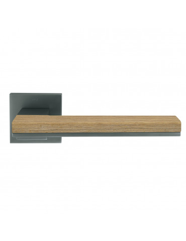 PAIR OF MIMOLIMIT HANDLES WITH DECORATIVE WOODEN OAK INSERT