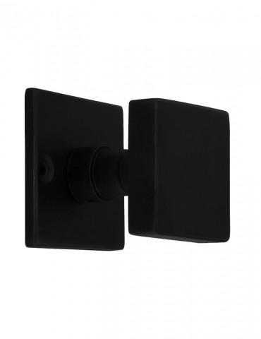SQUARE DOOR KNOB 60mm BLACK...