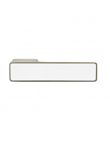MAXIMUM PAIR OF HANDLES WITH GLOSSY WHITE GLASS DECORATIVE INSERT