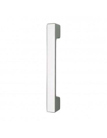 MAXIMUM PULL BAR 297mm WITH  DECORATIVE INSERT GLOSSY WHITE GLASS