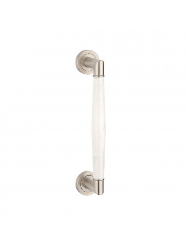 PULL BAR 300mm SATIN NICKEL / CARRARA MARBLE
