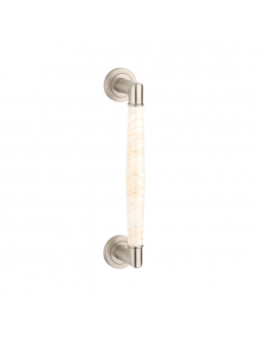 PULL BAR 300mm SATIN NICKEL / GOLD SPIDER MARBLE