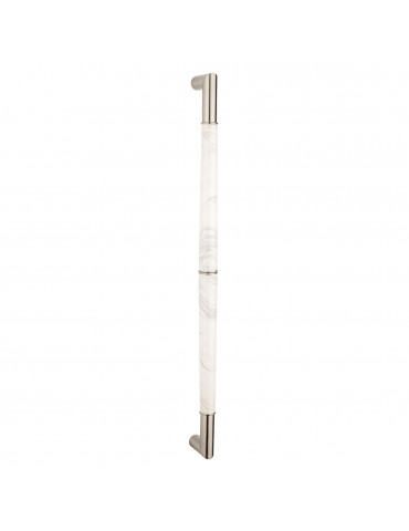 PULL BAR 800mm SATIN NICKEL / CARRARA MARBLE