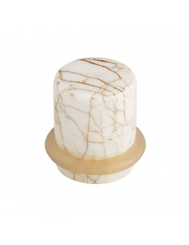 DOOR STOPPER SATIN NICKEL / GOLD SPIDER MARBLE