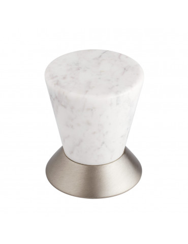DOOR KNOB SATIN NICKEL / CARRARA MARBLE