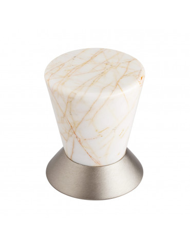 DOOR KNOB SATIN NICKEL / GOLD SPIDER MARBLE