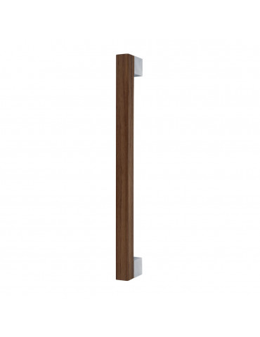 MIMOLIMIT PULL BAR 340mm WITH DECORATIVE INSERT WALNUT WOODEN