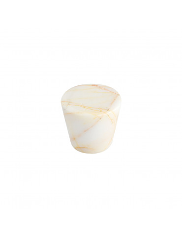 CONICAL CABINET KNOB SATIN NICKEL / GOLD SPIDER MARBLE