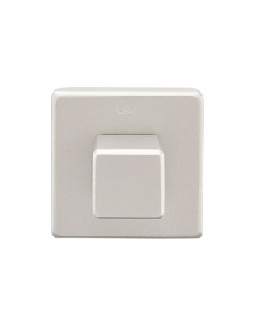 PAIR OF SQUARE ROSETTES 47mm WITH WC TURN MINIMAL