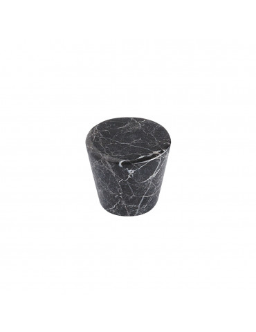 CONICAL CABINET KNOB SATIN NICKEL / BLACK MARBLE